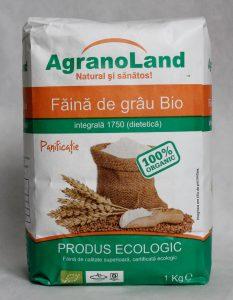 Făină ecologică integrală grâu AgranoLand
